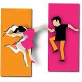 De dansers Stock Foto's