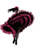 De dansers dansende Franse cancan van de vrouw Stock Afbeeldingen