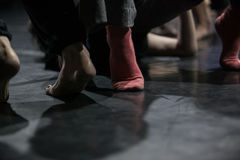 de dansers improviseren bij de jam Royalty-vrije Stock Afbeelding