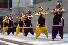 De Dansers van Bhangra Stock Afbeeldingen