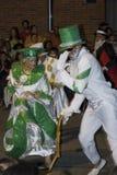 De dansers van Carnaval in Montevideo, Uruguay, 2008. Stock Afbeeldingen
