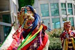 De dansers van Cham stock foto's