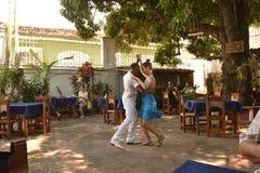 DE DANSERS VAN CUBA TRINIDAD Stock Foto's