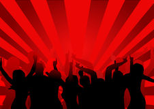 De Dansers van de disco Stock Afbeelding