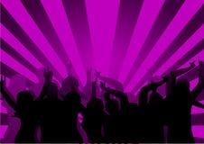 De Dansers van de disco Stock Fotografie