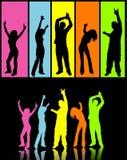 De dansers van de disco Stock Foto's