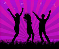 De dansers van de partij Royalty-vrije Stock Afbeeldingen