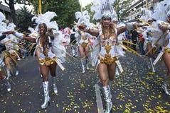 De dansers van de School Paraiso van Samba drijven Stock Foto