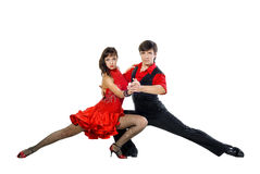 De dansers van de tango Stock Fotografie