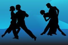 De dansers van de tango Stock Illustratie