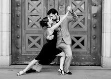 De dansers van de tango Stock Afbeelding