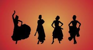 De Dansers van het flamenco Stock Illustratie