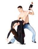 De dansers van het gedrang stock foto's