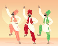 De dansers van Punjabi Royalty-vrije Stock Afbeelding