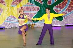 De dansers van Salsa Stock Afbeeldingen