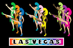 De Dansers van Vegas van Las stock illustratie