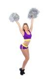 De dansersmeisje van Cheerleader het dansen Stock Foto