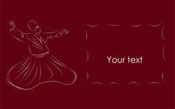 De dansersschets van het derwisj stock illustratie