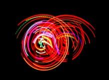 De danslichten van het neon stock foto
