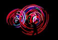 De danslichten van het neon stock foto's
