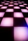 De dansvloer van de disco met kleurrijke verlichting Royalty-vrije Stock Afbeelding