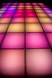 De dansvloer van de disco met kleurrijke verlichting Royalty-vrije Stock Foto
