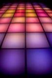 De dansvloer van de disco met kleurrijke verlichting Royalty-vrije Stock Foto's