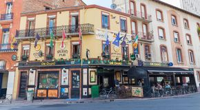 De Danu Irish Pub in Toulouse Stock Photo
