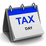 De datum van de belasting Stock Foto's