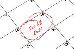De datum van de kalender Stock Afbeelding