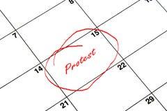 De datum van de kalender stock afbeeldingen