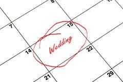 De datum van de kalender Royalty-vrije Stock Afbeelding