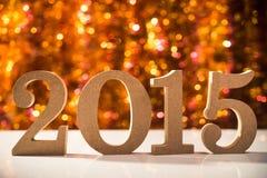 de datum van 2015 van Nieuwjaren Royalty-vrije Stock Foto's