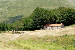 De dauw van de berg met lettersoort Stock Fotografie