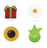 De de abstracte symbolen en voorwerpen van de elegantieaard Stock Afbeelding