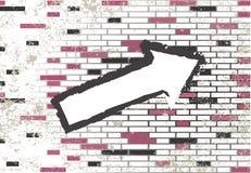 De de abstracte tegels en pijl van het grungemozaïek Stock Foto