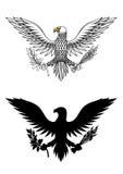De de Amerikaanse tak en pijlen van de adelaarsholding Stock Foto