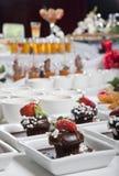 De de Aziatische voorgerechten en desserts van de Fusie op lijst Stock Foto