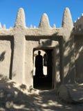 De de baksteenbouw van de modder, Mali (Afrika). Stock Foto