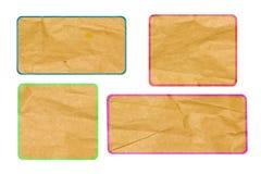 De de besprekingsmarkering van de bel recycleerde document ambachtstok. Royalty-vrije Stock Afbeeldingen