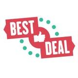 De de beste sticker of banner van de overeenkomstenverkoop Vectorsymbool van speciale aanbiedingen en voor bevordering die van ve Stock Foto's