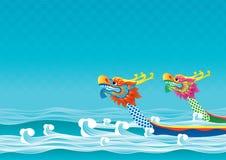 De achtergrond van het de bootfestival van de draak Royalty-vrije Stock Fotografie