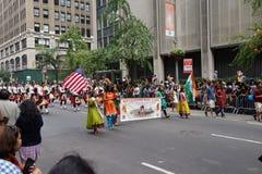 De de Dagparade NYC 2 van India van 2015 Royalty-vrije Stock Foto