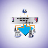 De de dienst Georiënteerde Orkestratie van het architectuur en Bedrijfsproces Stock Afbeelding