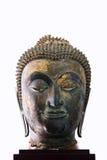 17de - 18de Eeuw A D hoofd van een beeld van Boedha in Ayutthaya Stock Afbeeldingen