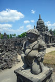 de 9de eeuw Hindoese tempel Prambanan op Java Island Stock Foto's