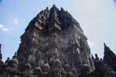de 9de eeuw Hindoese tempel Prambanan op Java Island Royalty-vrije Stock Foto's