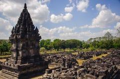 de 9de eeuw Hindoese tempel Prambanan op Java Island Royalty-vrije Stock Foto