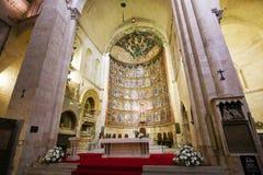 de 15de Eeuw Retable van de Oude Kathedraal van Salamanca Stock Afbeeldingen