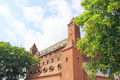 de 14de eeuw Teutonic kasteel in Gniew Royalty-vrije Stock Foto's